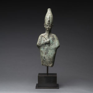 Egyptian Bronze Standing Figure of Osiris