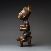 Kongo Wooden Nkisi Sculpture of a Rider