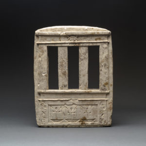 Egyptian Sandstone Model of a Temple Facade