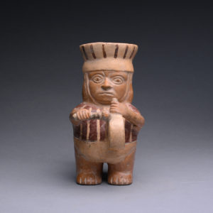 Moche Stirrup Vessel in the Form of a Drummer 1