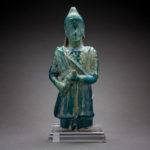 Parthian Faience Figure of a Warrior