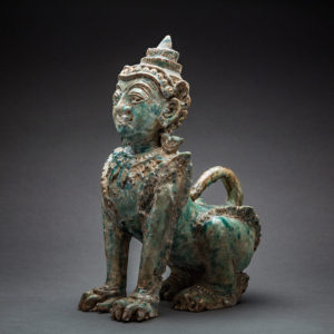 Khmer Glazed Terracotta Sphinx 1