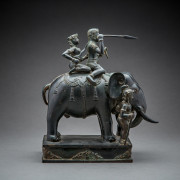 Bronze Sculpture of an Elephant