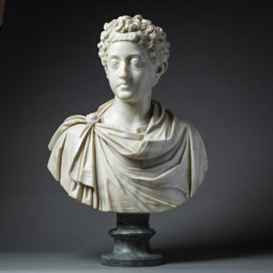 Marble Bust of a Young Commodus Attributed to Bartolomeo Cavaceppi