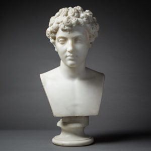 Classical Revival Marble Bust of a Young Marcus Aurelius