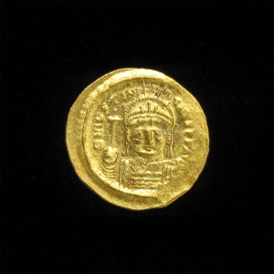 Byzantine Gold Solidus of Emperor Justinianus I