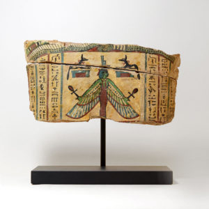 Painted Wooden Fragment from a Mummy Case