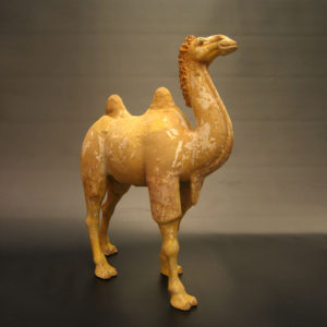 Tang Dynasty Painted Pottery Walking Camel