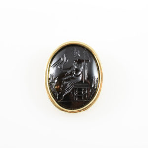 Classical Revival Intaglio depicting the Greek God Zeus