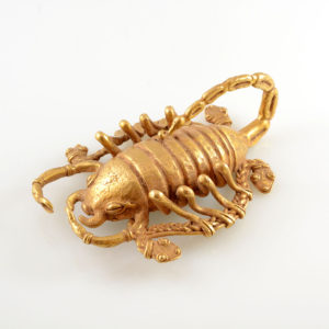 Diquis Gold Pendant of a Scorpion