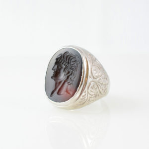 Roman Carnelian Intaglio of the Bust of an Emperor