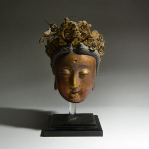 Gilt Stucco Head of Kuan-Yin