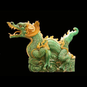 Ming Glazed Terracotta Architectural Sculpture of a Dragon
