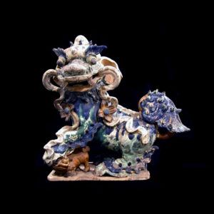 Ming Glazed Terracotta Sculpture of a Fu Dog