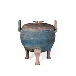 Eastern Zhou Bronze Ding with Lid