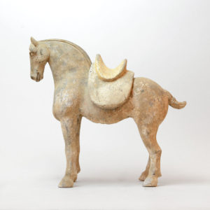 Tang Sculpture of a Horse with Removable Saddle