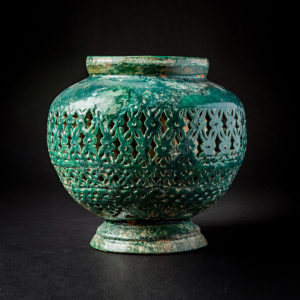 Green glazed Incence Burner