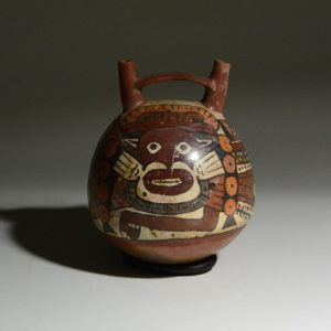 Nazca Spouted Polychrome Vessel