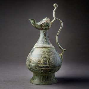 Engraved Bronze Ewer