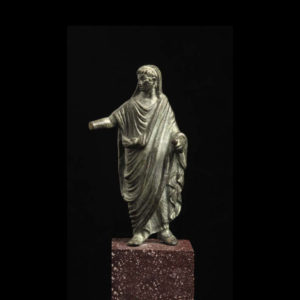 Roman Bronze Sculpture of Augustus as a Priest