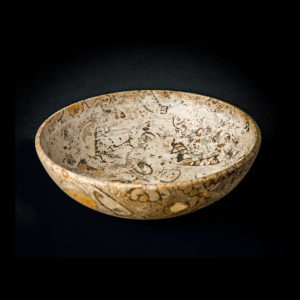 Shallow Bowl Made From Fossilised Conglomerate