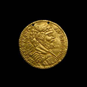 Repousé Gold Roundel Depicting Emperor Septimius Severus