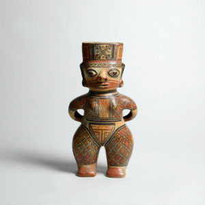 Guabal Polychrome Standing Female Figure