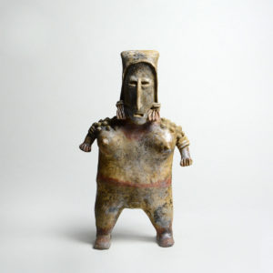 San Juanito Style Jalisco Terracotta Sculpture of a Standing Woman
