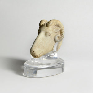 Roman Sculpture of a Ram's Head