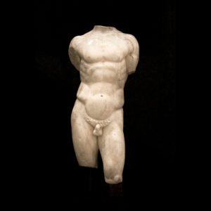 Roman Marble Torso of a Nude Male