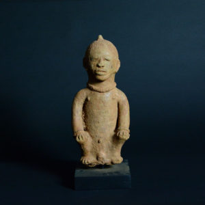 Katsina Sculpture of a Seated Man