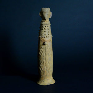 Bura Terracotta Phallic Vessel Topped by a Head