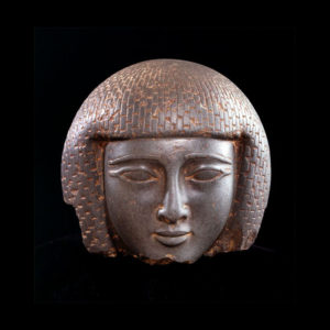 New Kingdom Stone Head of a Man