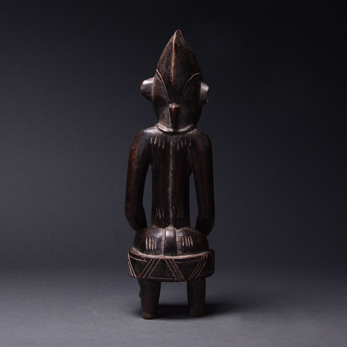 Senufo Wooden Sculpture Of A Seated Woman Barakat
