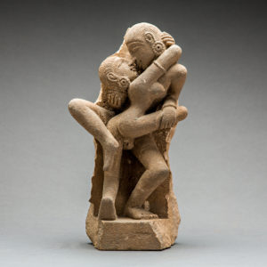 Erotic Sandstone Sculpture of a Couple