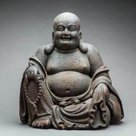 Ming Wooden Sculpture of the Laughing Buddha