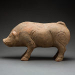 Eastern Han Terracotta Sculpture of a Pig