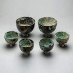 Set of Six Tang Bronze Wine Cups