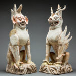 Pair of Tang Sculptures of Spirit Guardians