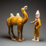 Tang Glazed Terracotta Camel and Foreign Groom3
