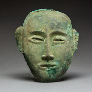 Liao Bronze Funerary Mask
