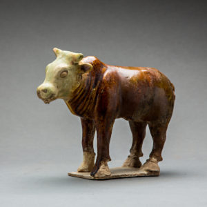 Sancai-Glazed Pottery Ram and Bull2