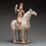Tang Polychrome Horse and Female Polo Player2