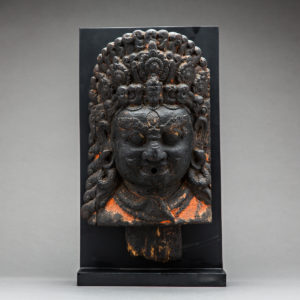 Nepalese Wooden Mask of Bhairava