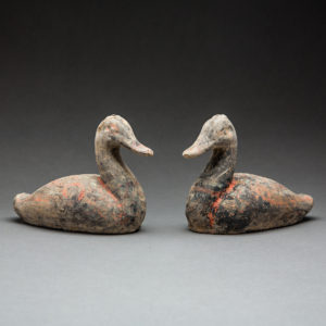 Pair of Han Dynasty Terracotta ducks
