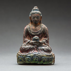 Seated Buddha with Inscription Nepal