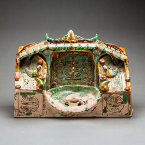 Ming Dynasty Glazed Terracotta Head Rest