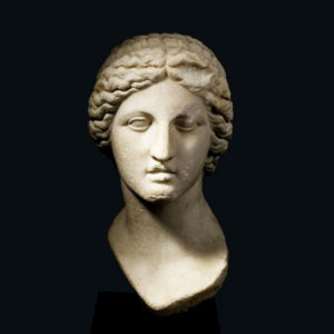 Marble Head of the Goddess Artemis2