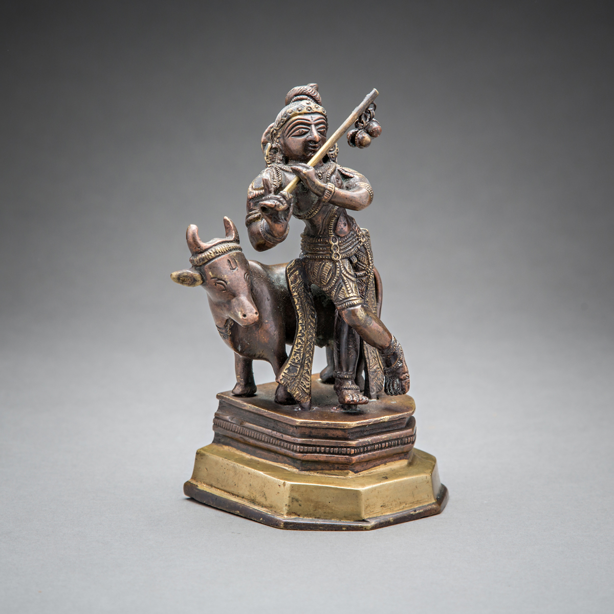 Statue of Krishna Playing the Flute - Barakat Gallery Store