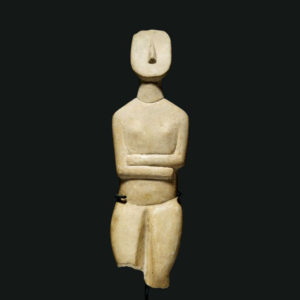 Cycladic Stone Fertility Sculpture